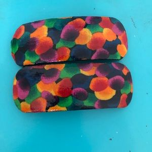 Multi Colored Hair Clip Set of 2